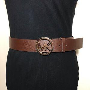 Michael Kors Belt Signature Logo Brown Leather S
